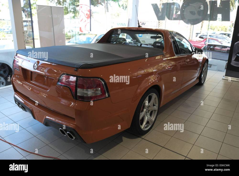 medium resolution of holden hsv ute for sale in a holden dealership in sydney stock image