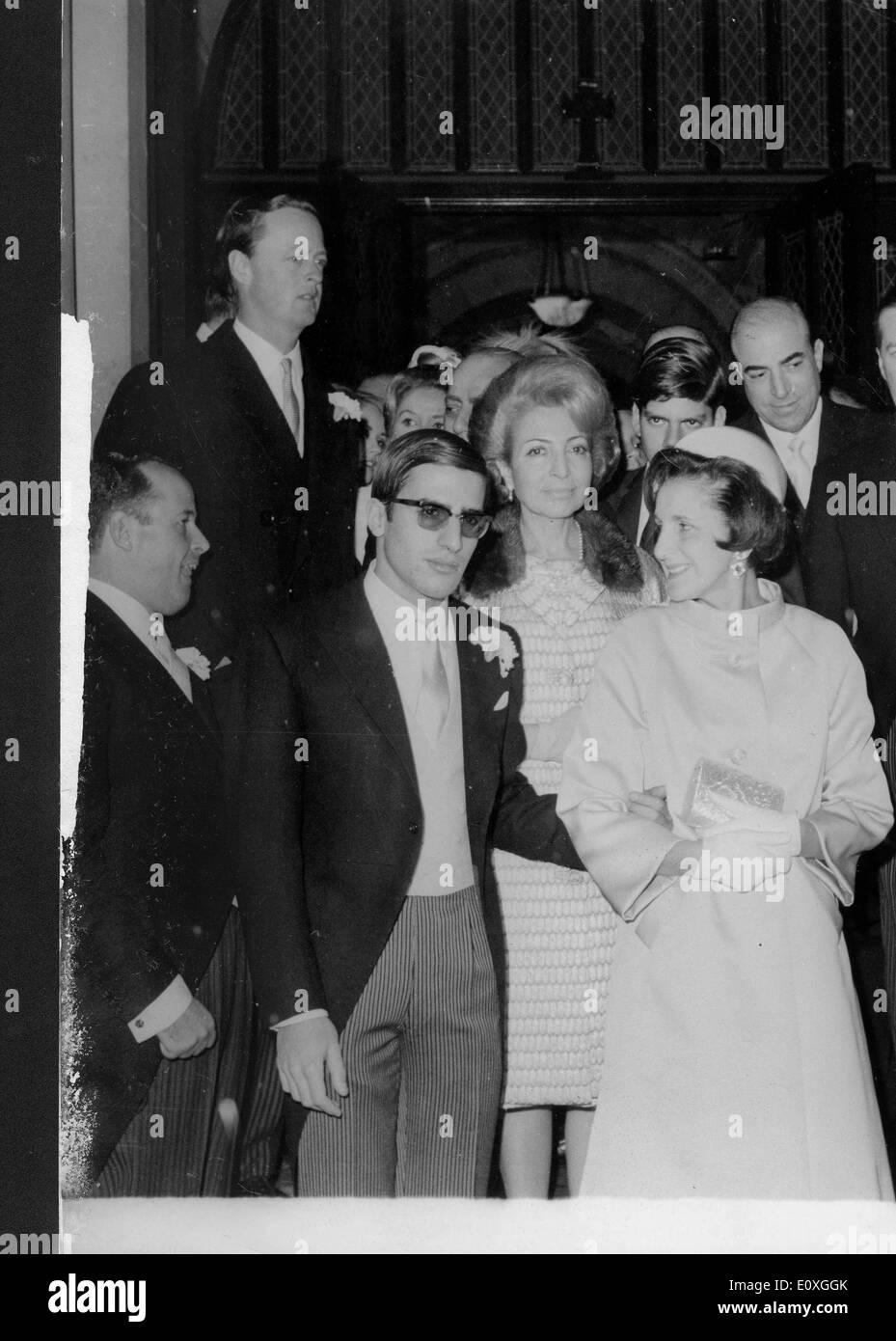 Alexander Onassis attends George Livanos wedding Stock