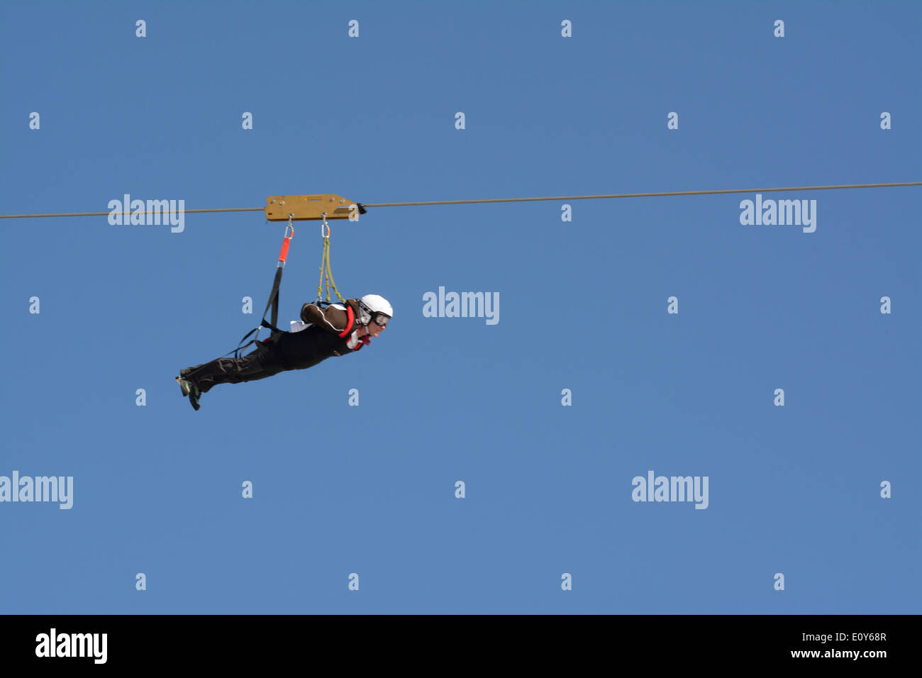 4 man zip wire wales rf transmitter and receiver block diagram stock photos images alamy person on line image
