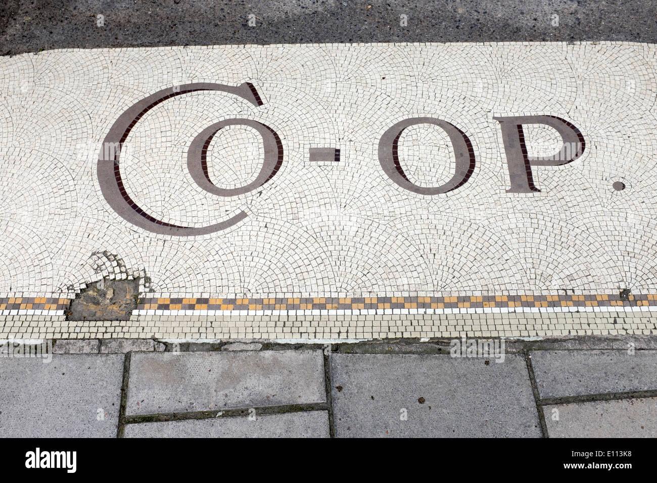 https www alamy com old co operative shop floor mosaic tiles in bradford on avon image69480972 html