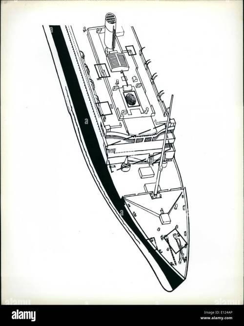 small resolution of 09 1985 titanic hull diagram diagram of the forward portion of