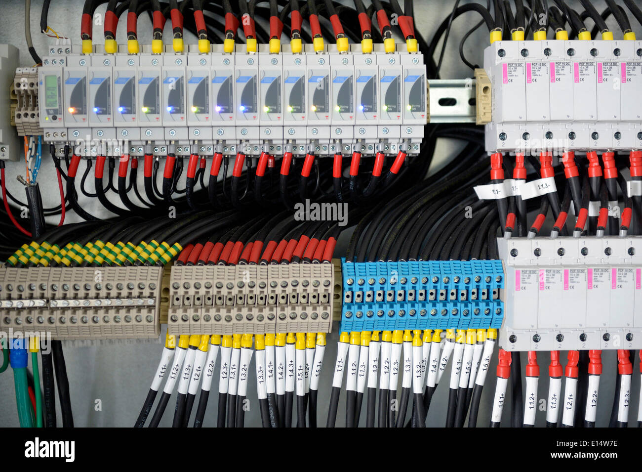 hight resolution of fuse box cables wiring diagram showfuse box with many cables stock photo 69563746 alamy fuse box