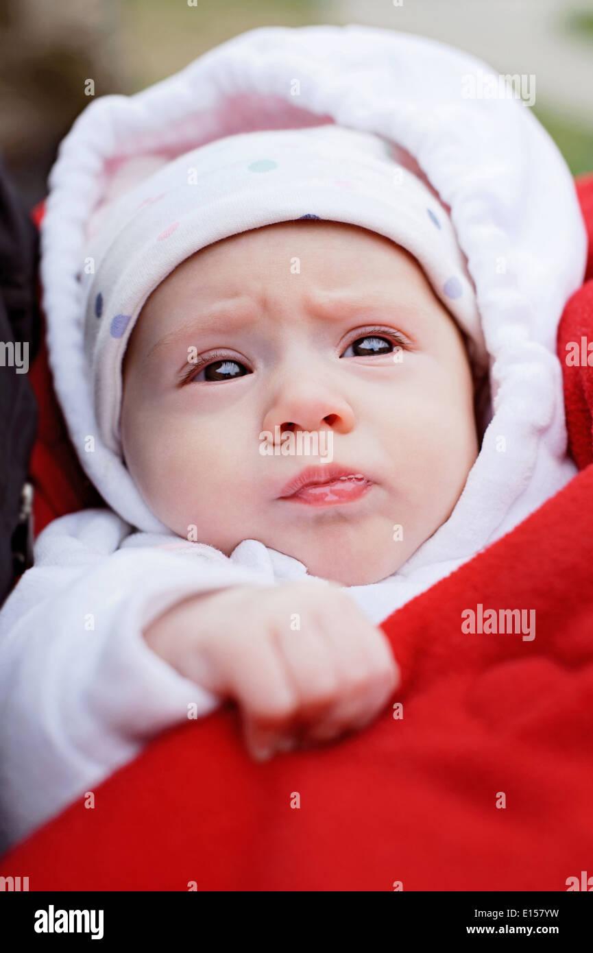 Sad Baby Girl Photo : photo, Beautiful, Newborn, Stock, Photo, Alamy