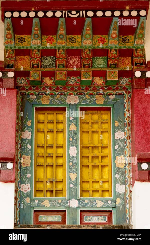 Art In Buddhist Monastery Architecture Sikkim India - Hand Stock Royalty Free