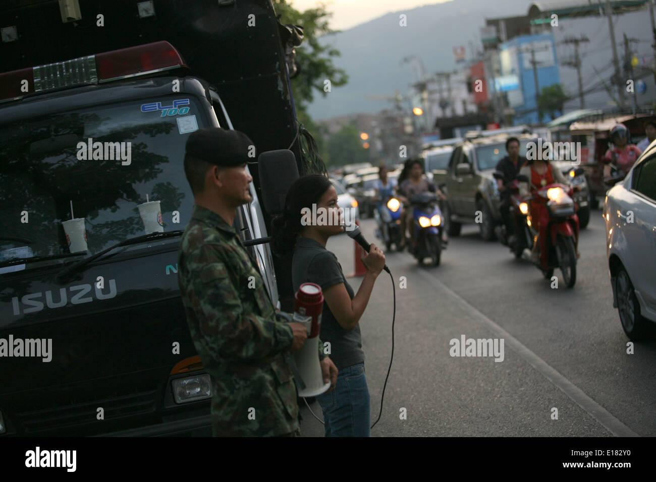 chiang mai thailand 26th may 2017 the royal thai army making a