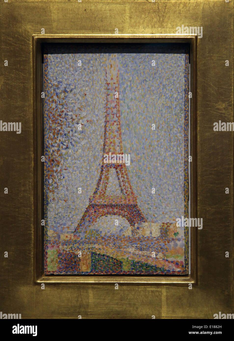 La Tour Eiffel (seurat) : eiffel, (seurat), Georges-Pierre, Seurat, 1859-1891, French, Post-Impressionist, Stock, Photo, Alamy