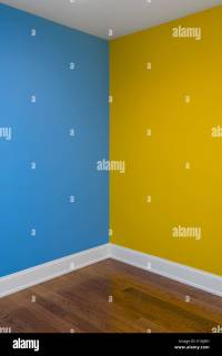Corner Of Room With Walls Painted Two Different Colors ...