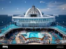 Mid-ship Pool Board Emerald Princess Cruise Ship Sea