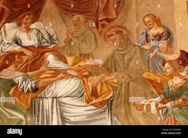 Roman Fresco Woman Stock & - Alamy