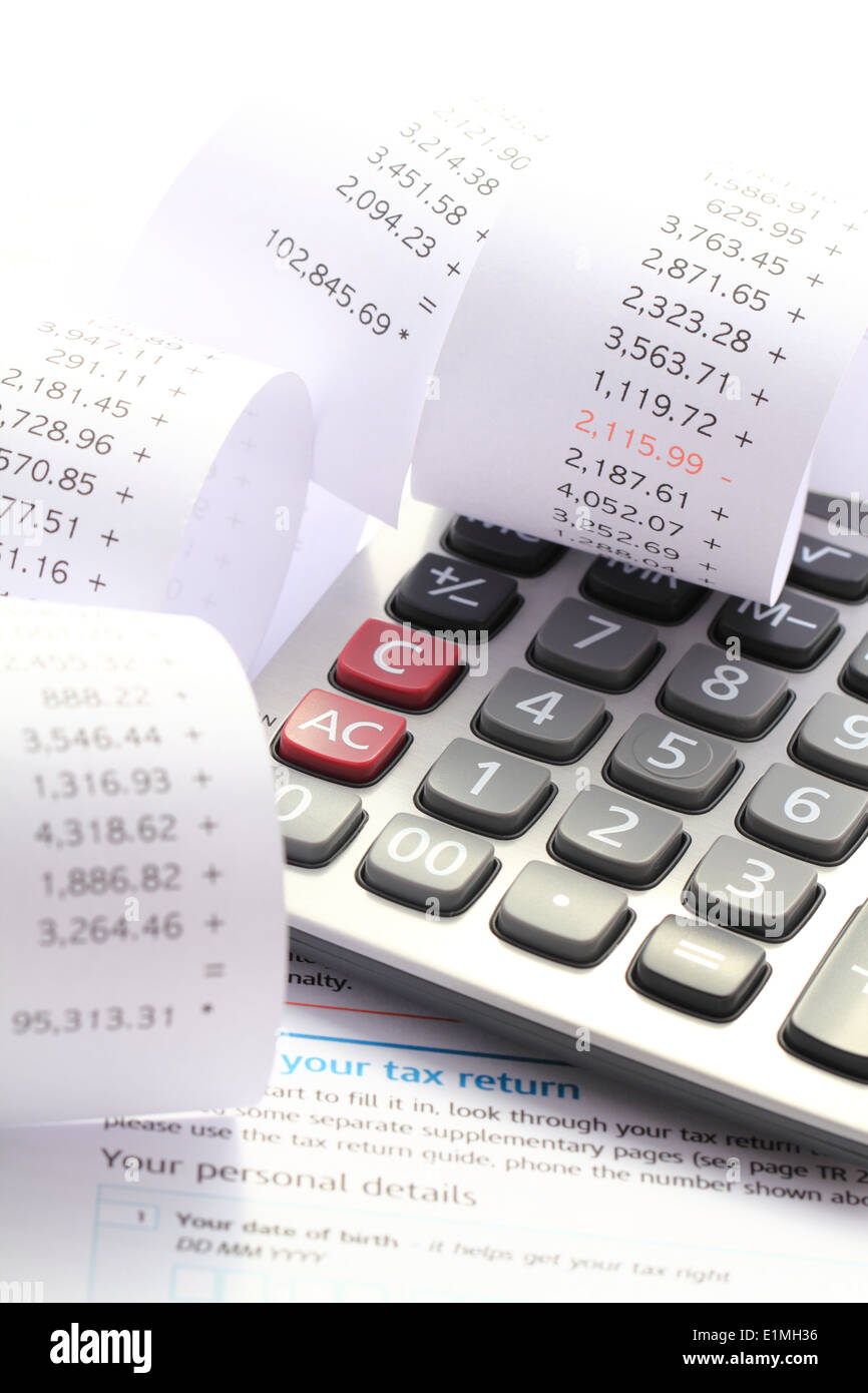 Annual Tax Return Self Assessment Form And Verification - Stock Image