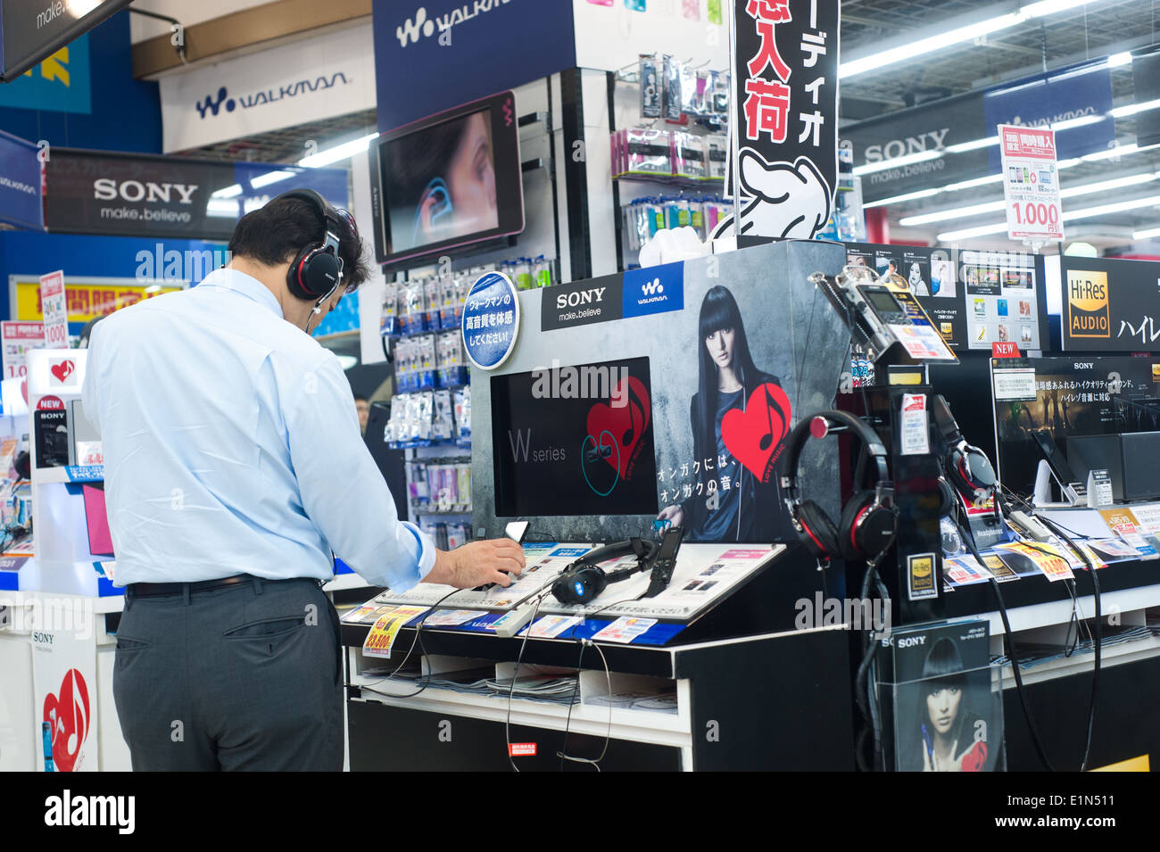 Image result for man in an electronics store