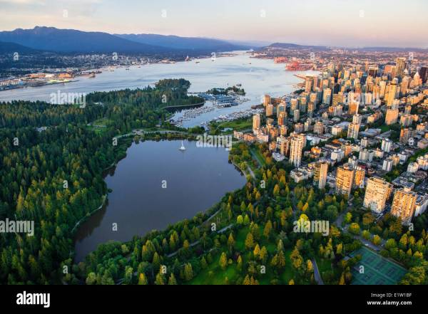 Stanley Park Vancouver Aerial Stock &