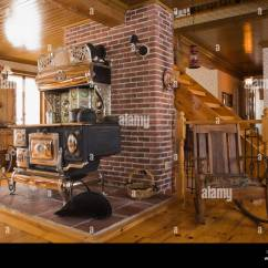 Living Room Designs With Wood Stove Color Schemes Black Furniture Old Legare S Rural Antique In The A Canadiana Cottage Style Fieldstone Residential Home Built To Look