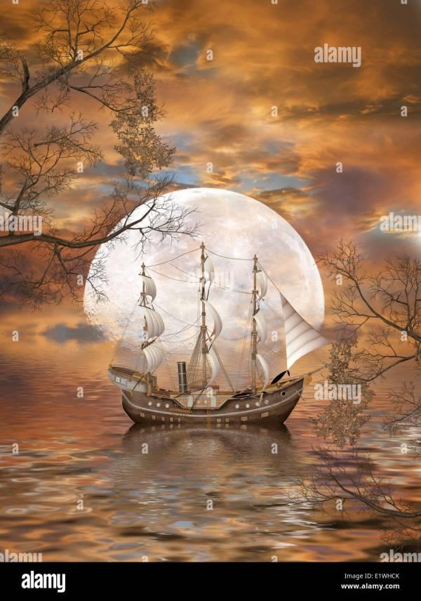 fantasy landscape in ocean
