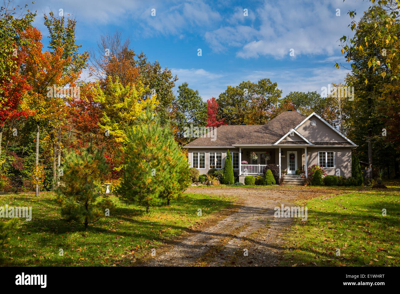 Fall Foliage Wallpaper For Computer A Rural Quebec Home In The Countryside With Fall Foliage