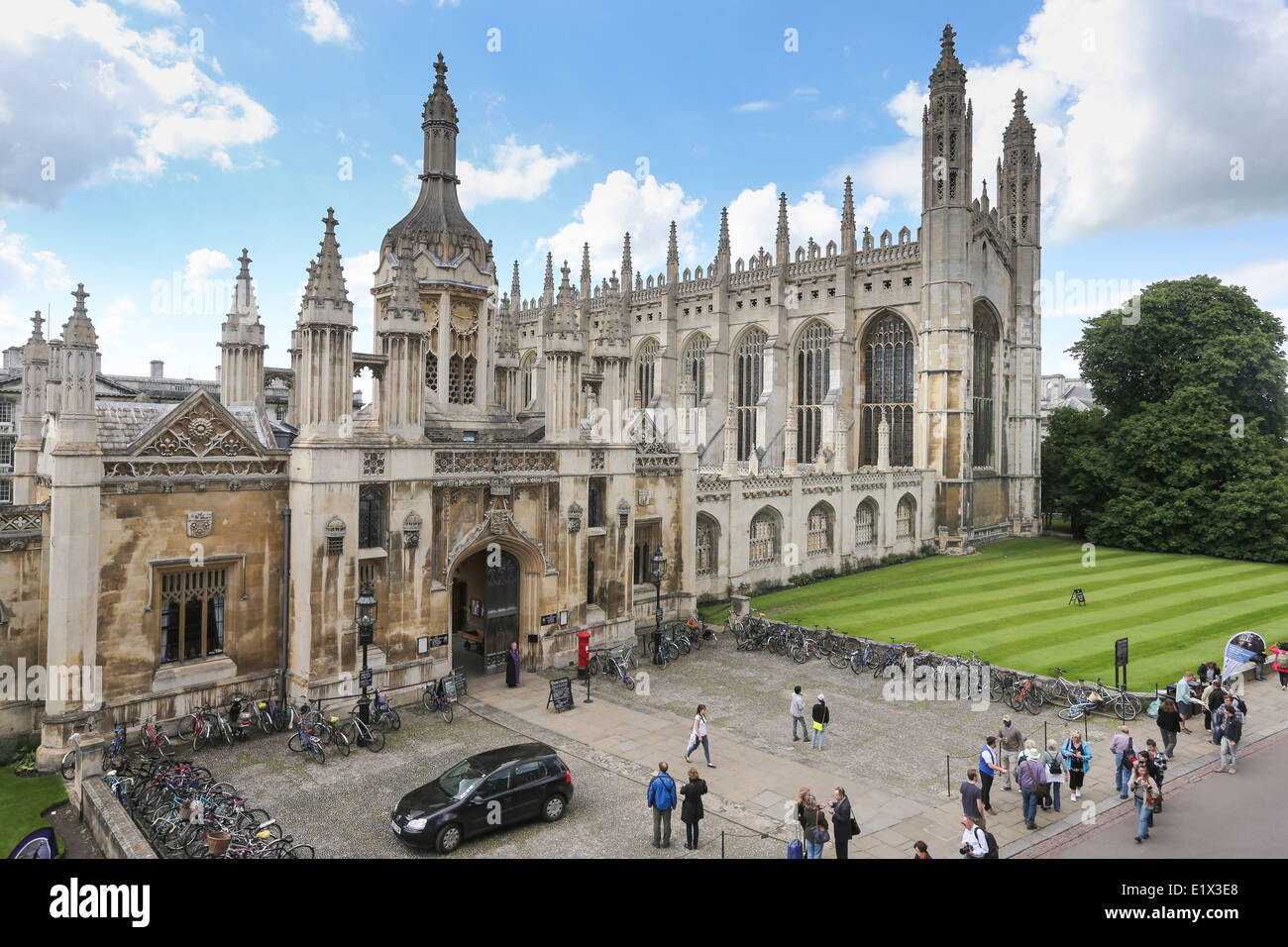 KINGS COLLEGE CAMBRIDGE CHAPEL FROM THE FRONT Stock Photo