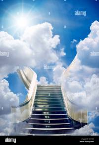 golden stairway to heaven background Stock Photo: 70096911 ...