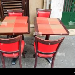 Paris Cafe Chairs Mid Century Barrel Chair Bistro Stock Photos And