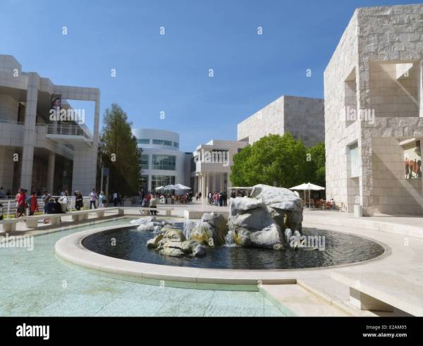 United States California Los Angeles Brentwood Hill .paul Getty Stock 70305989 - Alamy