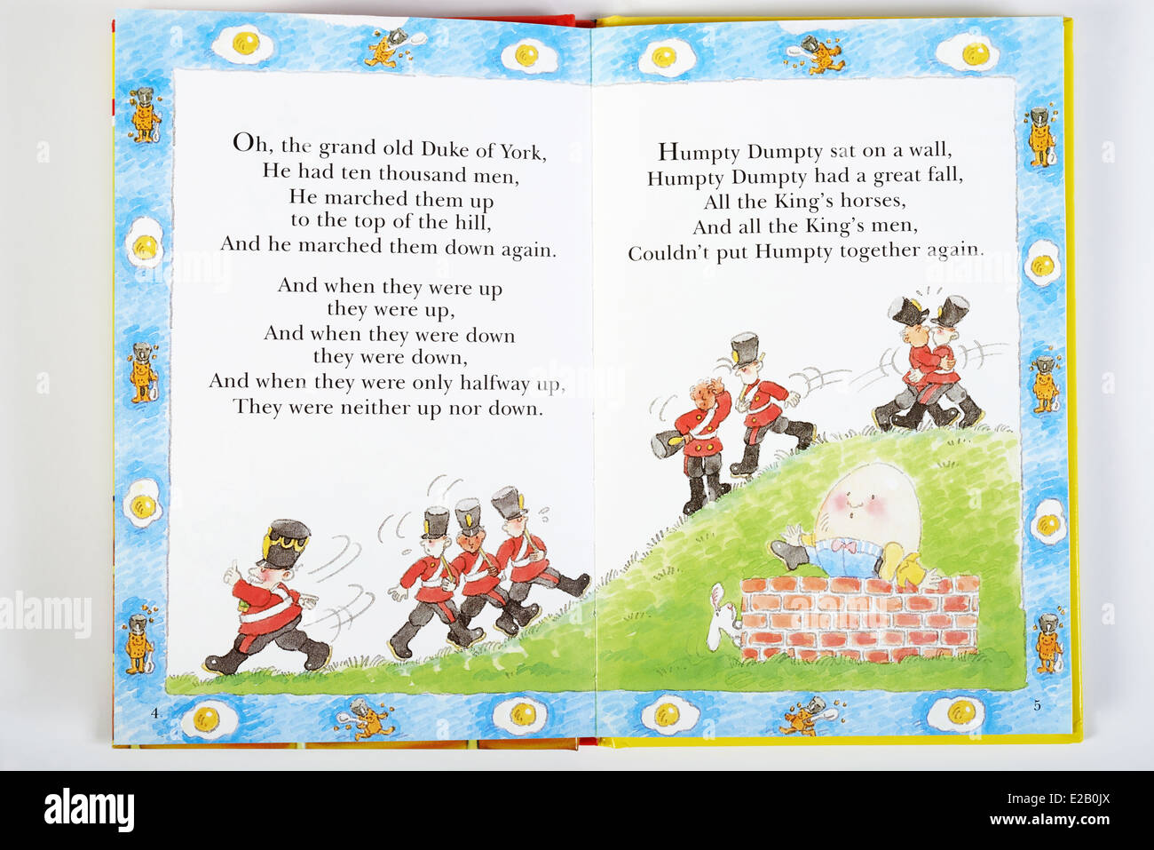 Nursery Rhyme Book Stock Photo