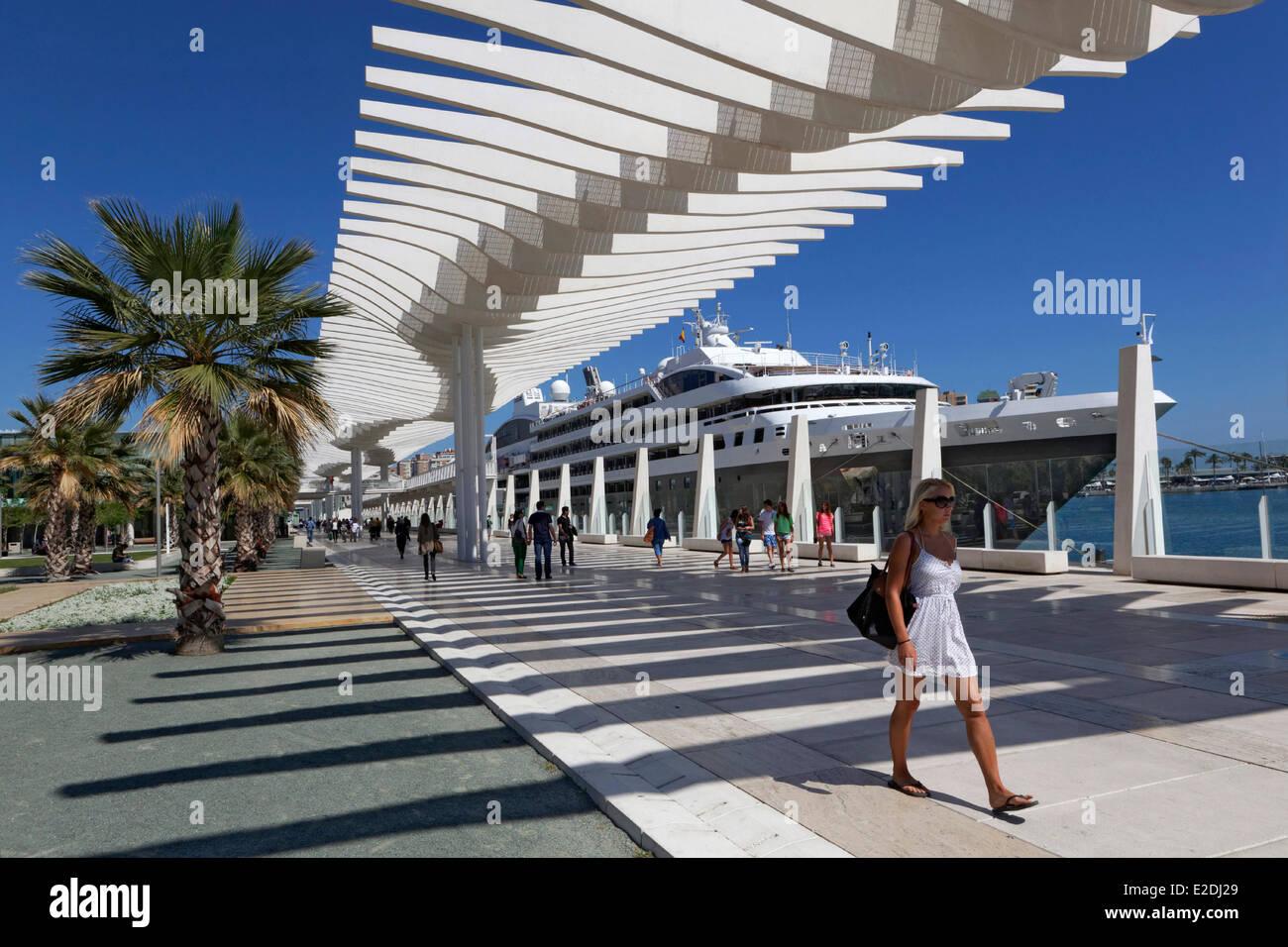 spain andalucia costa del sol malaga the port austral cruise yacht compagnie du ponant