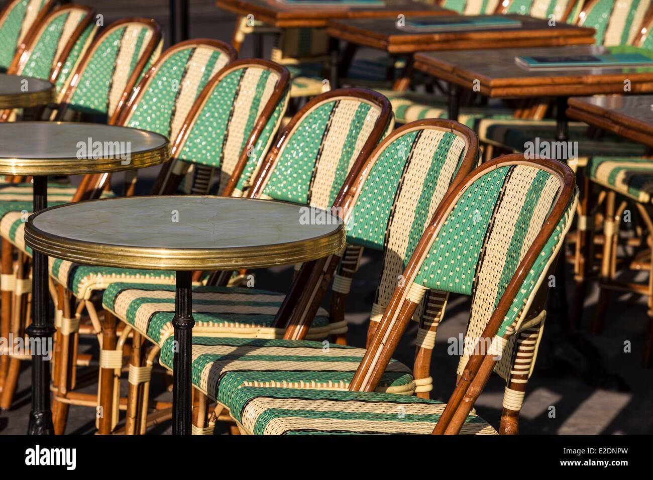 paris cafe chairs hanging chair hardware lowes bistro stock photos and images alamy