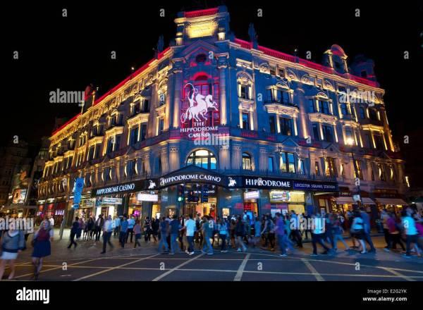 United Kingdom London Soho Hippodrome Casino Leicester Square Stock 70424359 - Alamy