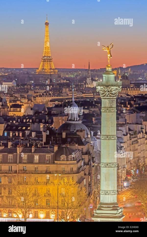 France Paris July Column Colonne De Juillet Place