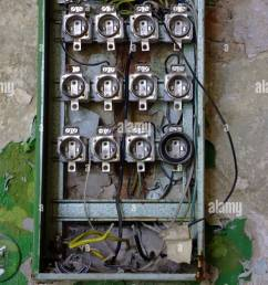 old fuse box in an abandoned house [ 869 x 1390 Pixel ]