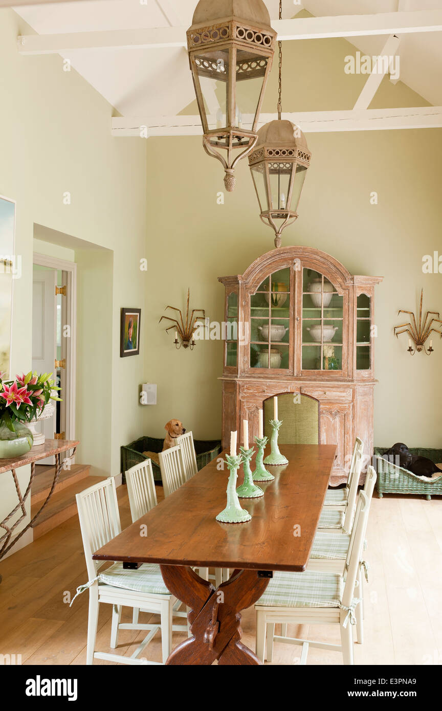wooden high chair uk posture work old french farmhouse table in dining room with swedish style chairs stock photo, royalty free ...