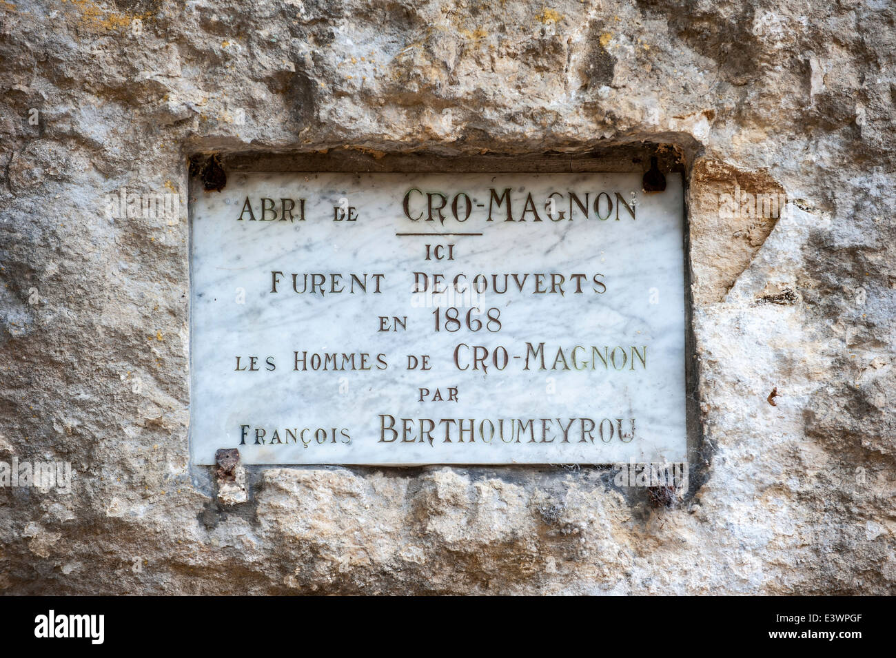 Plaque Commemorating Discovery Of Cro Magnon Man By