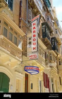 Retro Signs Of Grand Harbour Hotel Il-belt Valletta