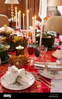 Victorian Christmas Dinner Table Setting Stock Photos ...