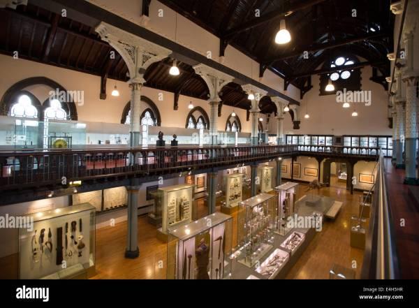 Interior Hunterian Museum University Glasgow Stock