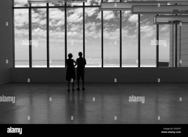Gazing Window Black And White Stock & - Alamy