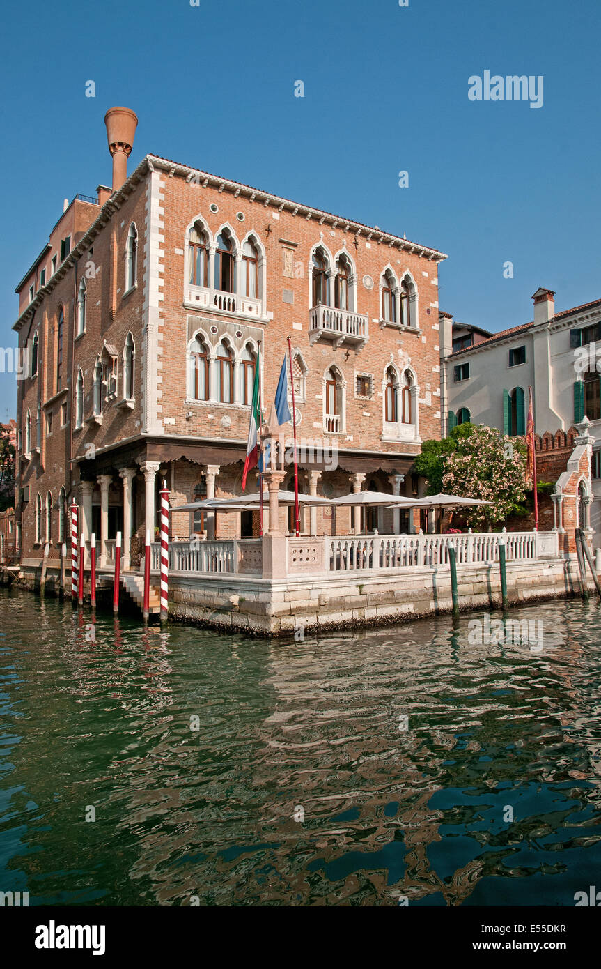 Hotel Palazzo Stern Seen From Grand Canal Venice Italy In