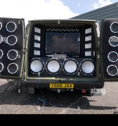 loud car stereo stereos music bass speaker speakers in car entertainment chav sub woofer treble tweeter tweeters speakers db s d [ 1300 x 953 Pixel ]