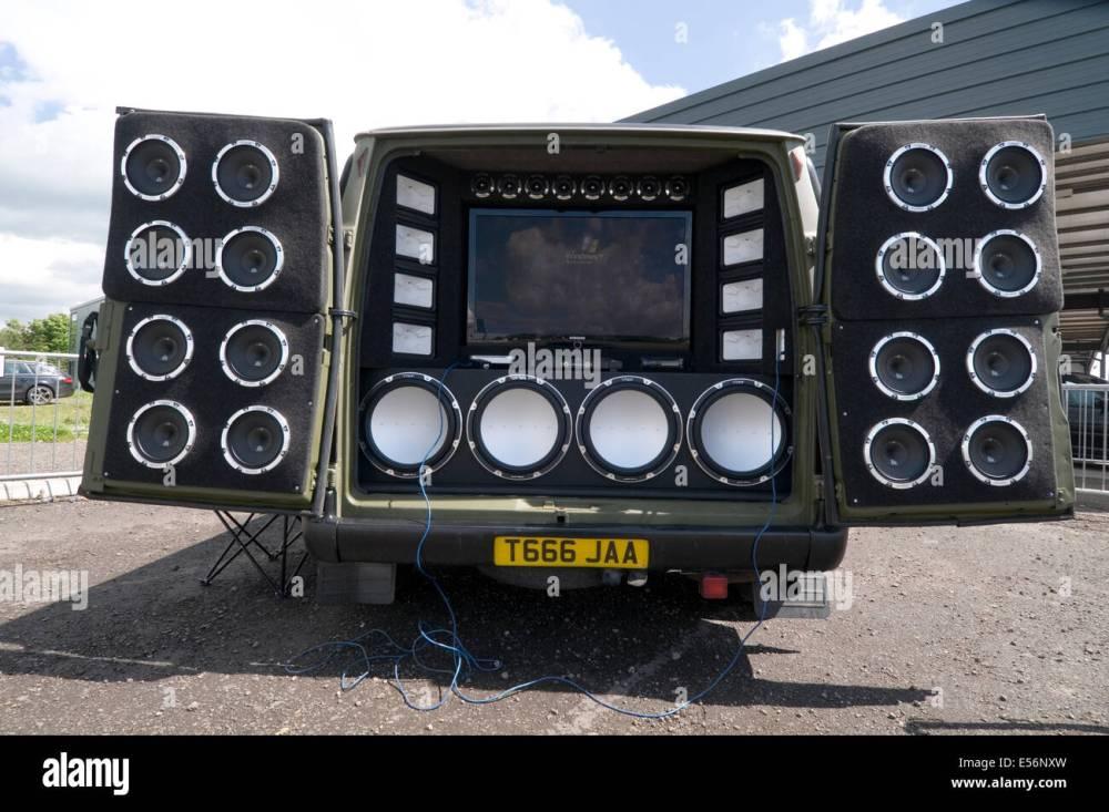 medium resolution of loud car stereo stereos music bass speaker speakers in car entertainment chav sub woofer treble tweeter tweeters speakers db s d