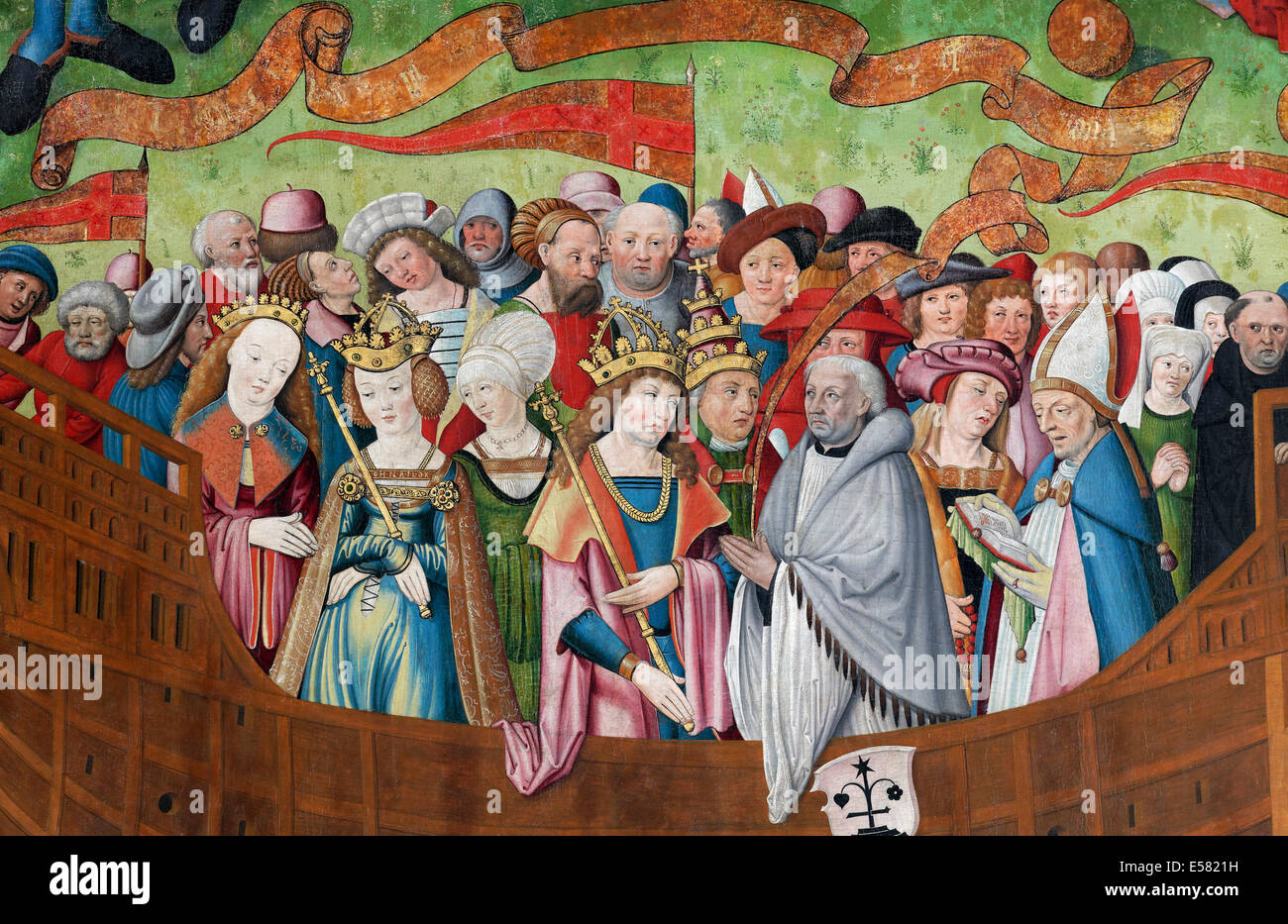 People Of All Classes Of The Middle Ages Gathered On Board