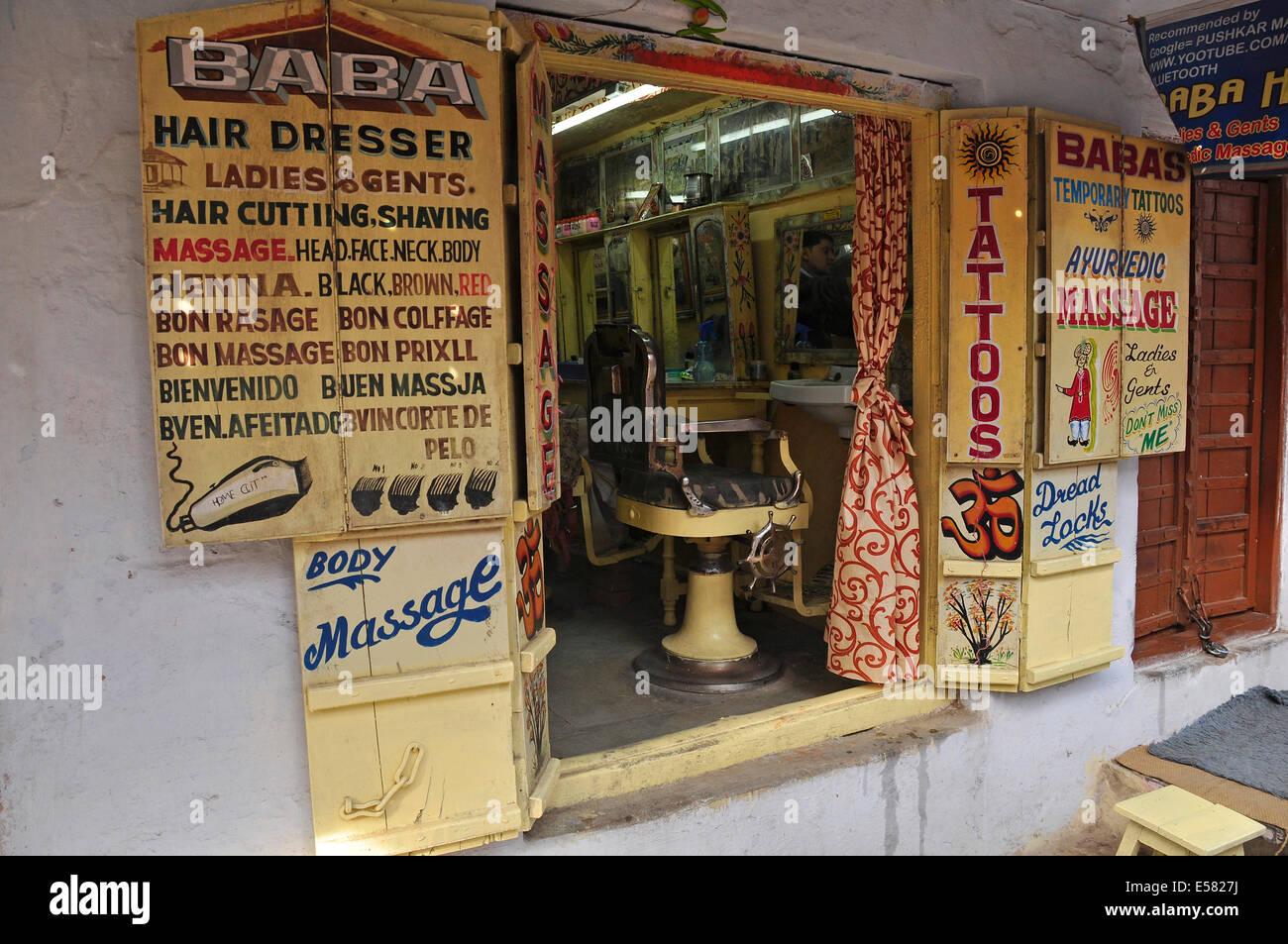 https www alamy com stock photo barber shop pushkar rajasthan india 72092150 html