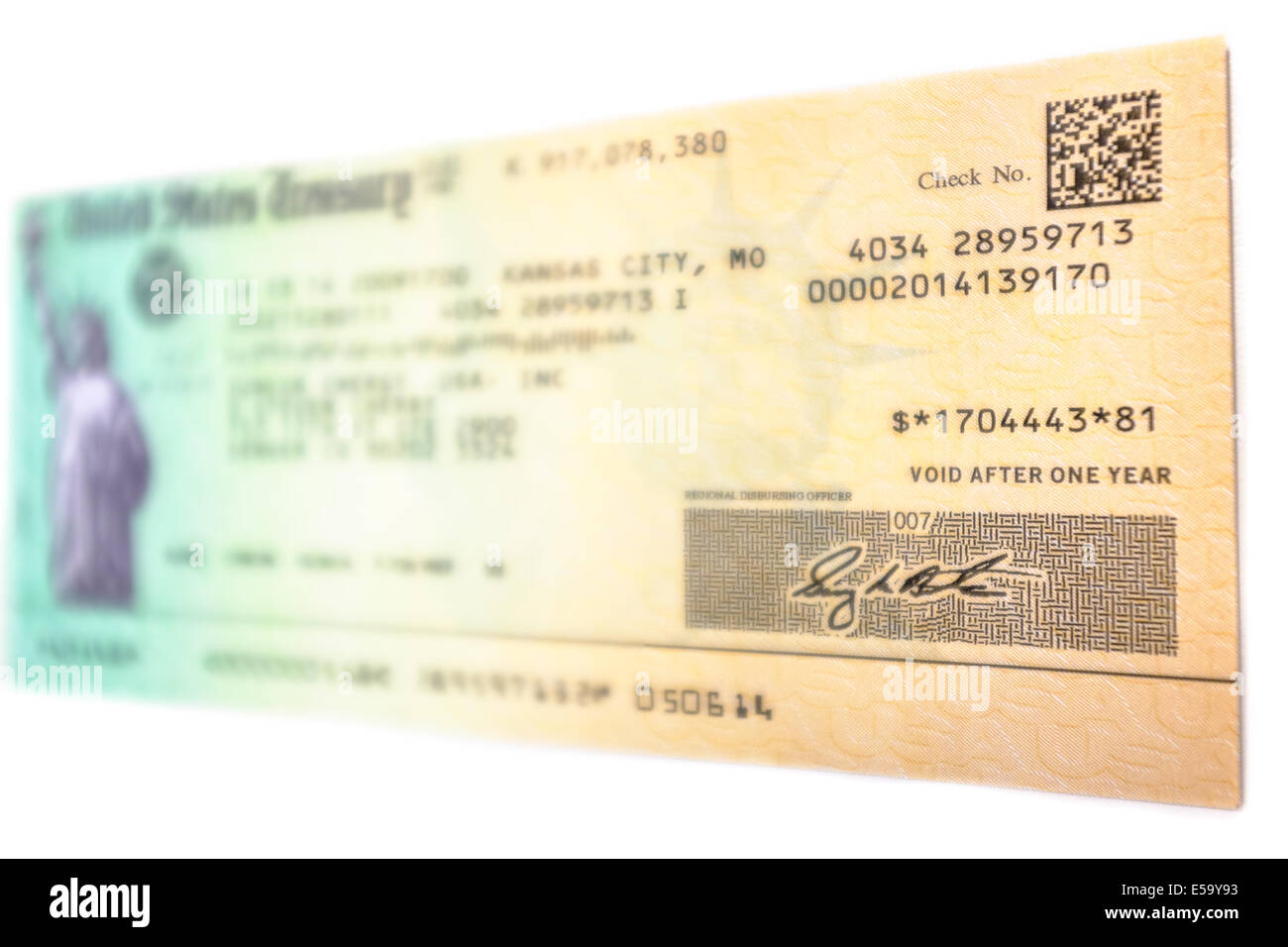 A Tax Refund Check In The Amount Of 1 704 443 81 Issued