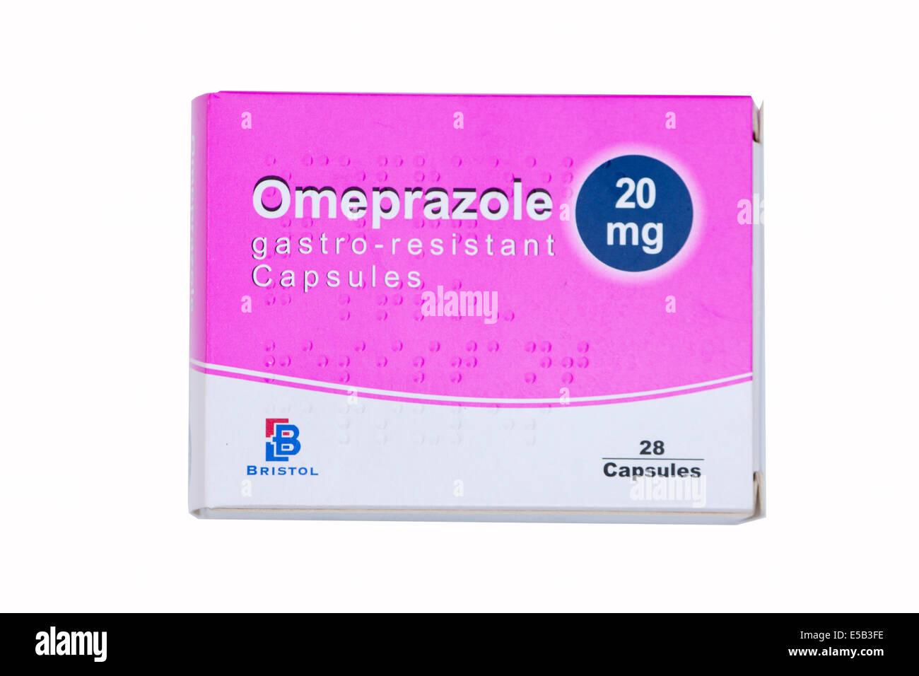 Pack of Omeprazole 20mg capsules Stock Photo: 72159010 - Alamy