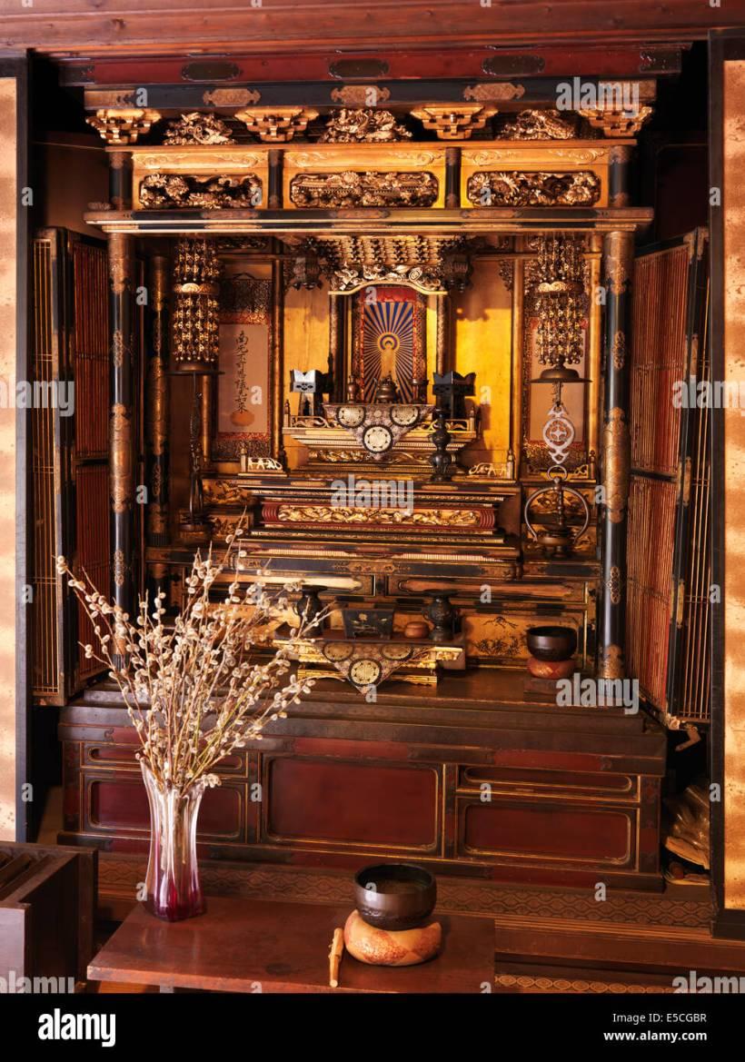 Thai Buddhist Altar Table Set - 7 Mini Set Buddha Wood Thai Pcs ...