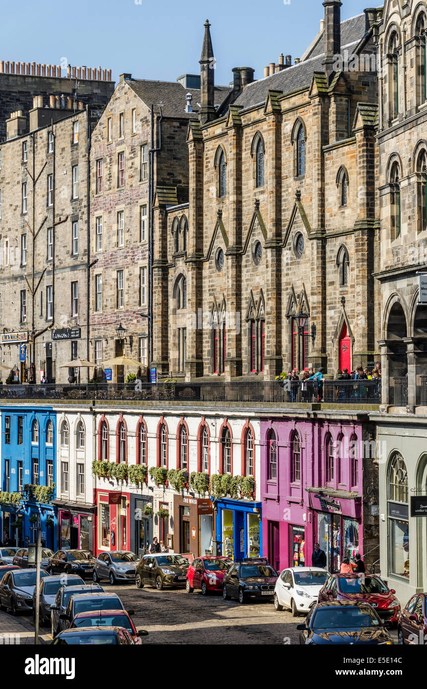 Victoria Street Edinburgh Is Famous For Its Multi Coloured