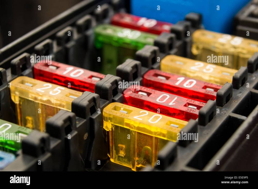 medium resolution of close up on a car fuse box stock photo 72229757 alamy fuse box car replacement close