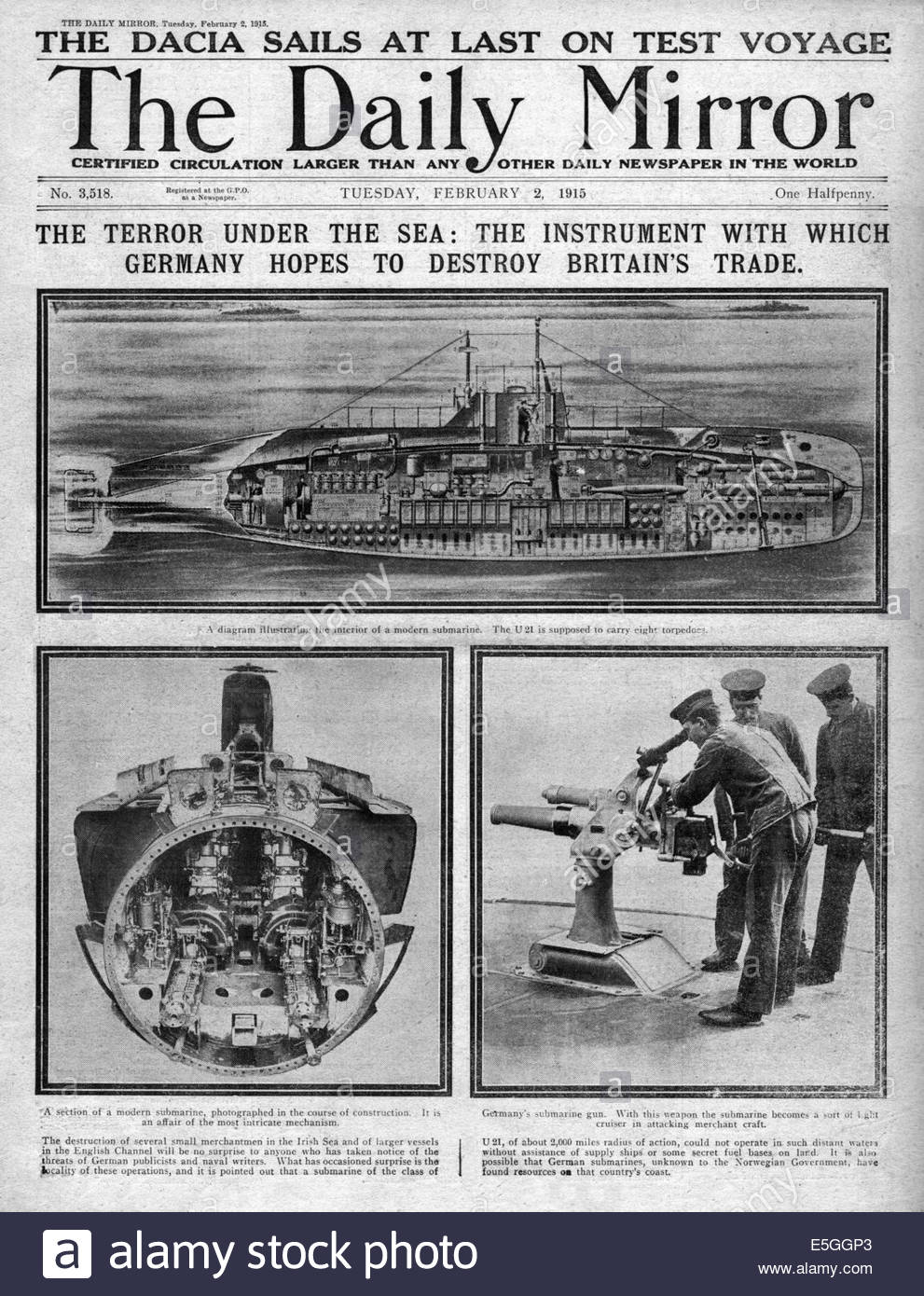 medium resolution of 1915 daily mirror front page reporting german u boats