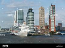 Netherlands Rotterdam Kop Van Zuid District. Cruise Ship