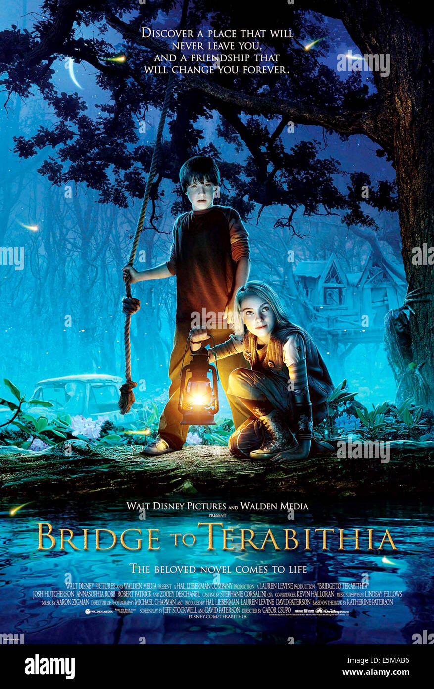Le Secret De Terabithia 2 : secret, terabithia, Hutcherson, Bridge, Terabithia, Resolution, Stock, Photography, Images, Alamy