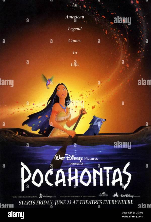 Pocahontas Disney Movie Poster