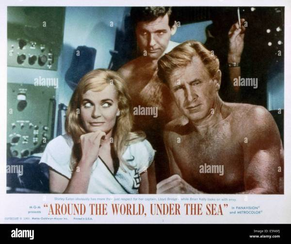 World Under Sea Left Shirley Eaton Brian Stock Royalty Free